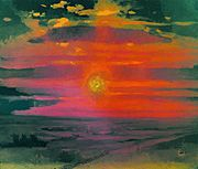Kuindzhi Sunset in winter Seashore 1876 1890.jpg