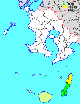 Kumage District, Kagoshima - Kumage District in Kagoshima Prefecture.