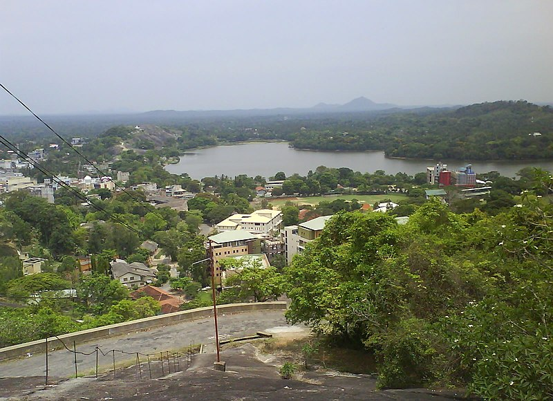 File:Kurunegala lake from Ibbagala1.JPG