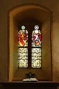 Lörrach - Röttler Kirche - Fenster in der Grabkapelle.jpg