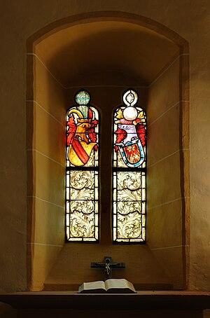 Window at church of Rötteln, Lörrach (Germany)