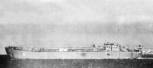 LST-16 with aircraft launching platform underway c1943.jpg
