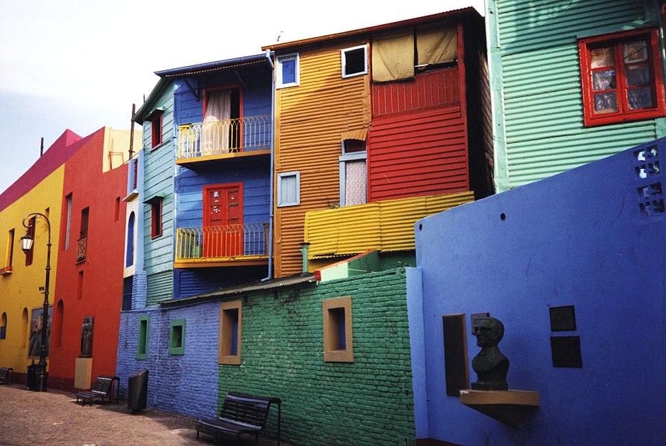 Distrito de La Boca, poboado por italianos orixinarios de Xénova.