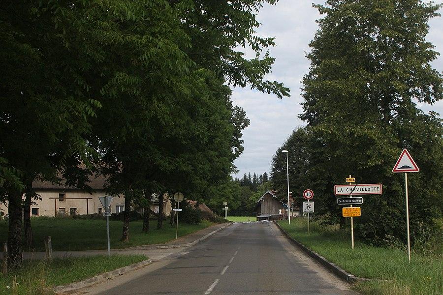 Entrée de La Chevillotte (Doubs).