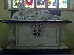 Mary Howard, Duchess of Norfolk (died 1705) - Memorial to Mary Mordaunt, Duchess of Norfolk, in St Peter's Church, Lowick