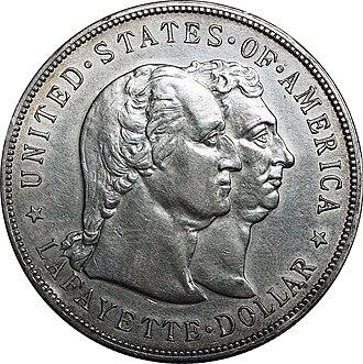 Lafayette dollar - Image: Lafayette dollar obverse
