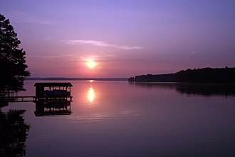 Lake Gaston - Sunrise over Lake Gaston