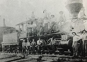 Lake City, Florida - Railroad employees at Lake City in early 1900s.