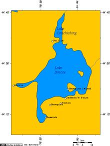 Map Of Lake Simcoe Ontario Canada Lake Simcoe   Wikipedia