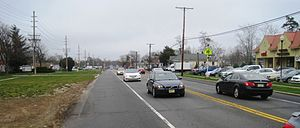 Lakehurst, New Jersey - Looking east along Route 70