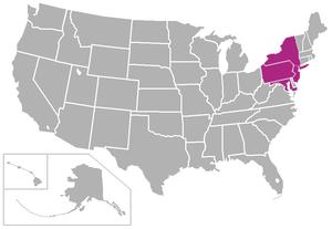 Landmark Conference - Image: Landmark USA states