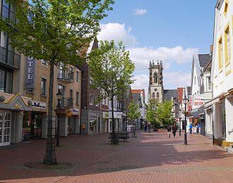 Oelde - Lange Street - Oelde centre