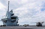 Largest helicopter in the US Navy lands on HMS Queen Elizabeth MOD 45165134.jpg