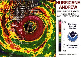 WSR-57 - Last image of the Miami's WSR-57 blown off by Hurricane Andrew.