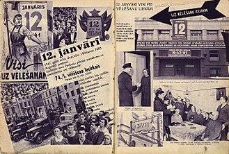 Latvian Soviet Socialist Republic - Poster of the Latvian SSR Supreme Soviet Election, in 12 January 1941