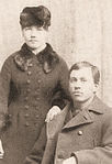 Laura and Almanzo Wilder 1885 retouched sepia.jpg