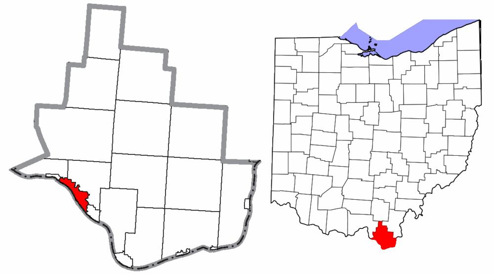 The population density of Ironton in Ohio is 2495.29 people per square kilometer (6470.35 / sq mi)