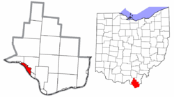 Location in Lawrence County and the State of Ohio