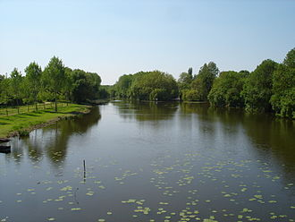 Thouet - The Thouet downstream of Montreuil-Bellay.