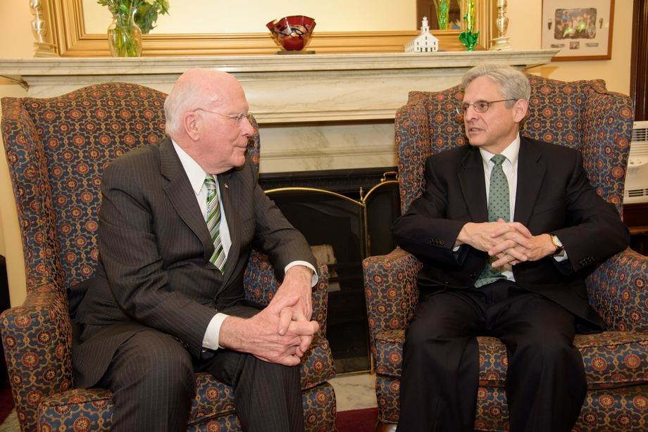 Leahy Meets with SCOTUS Nominee Chief Judge Merrick Garland 02