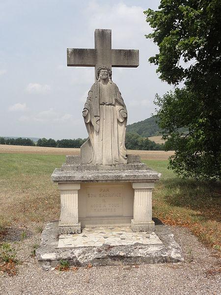 Les Éparges (Meuse) croix de chemin nord