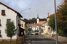 Blick in Richtung Ortszentrum