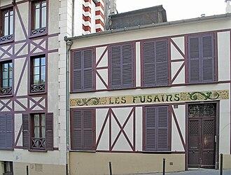 """Max Ernst - """"Les Fusains"""": 22, rue Tourlaque, 18th arrondissement of Paris where Max Ernst established a studio in 1925"""