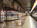 Letňany, stanice metra, nástupiště, kukaň dozorčího.jpg