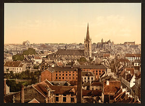 Leuven - View over Leuven, late 19th century
