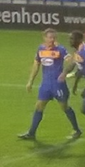 Liam Lawrence - Lawrence in action for Shrewsbury in November 2014