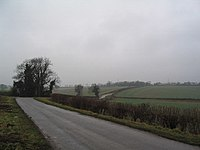 A rural road in Lincolnshire.