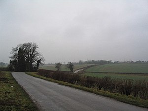 Lincolnshire - A rural road in Lincolnshire