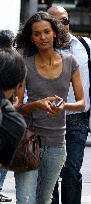 Liya Kebede - Kebede during the 2007 Mercedes-Benz Fashion Week.
