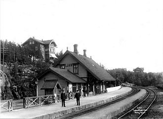 Østfold Line - The original Ljan Station