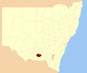Lockhart Shire - Location in New South Wales