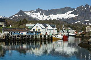 Austvågøy island in Nordland, Norway
