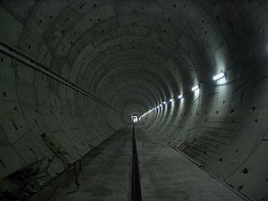 Lok Ma Chau Spur Line - Inside the tunnel towards Lok Ma Chau Station during construction
