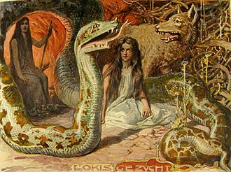 "Hel (being) - ""Loki's Brood"" (1905) by Emil Doepler."