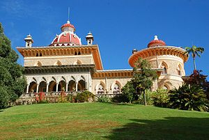 Monserrate Palace - Image: Long Shot of Palácio de Monserrate, Sintra, Portugal