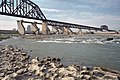 Looking S from Falls of the Ohio with Fourteenth Street (L&I) Bridge and McAlpine Dam a5h005.jpg