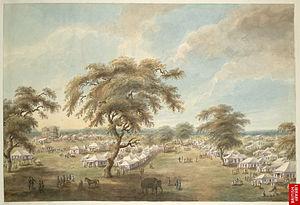 Moradabad - Lord Moiras camp at Moradabad