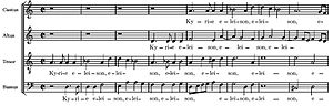 Antonio Lotti - Part from the Missa Brevis by Antonio Lotti
