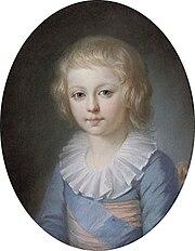 Le dauphin Louis-Joseph Xavier François de France.