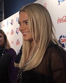 Louisa backstage at The O2 Arena before Capital's Jingle Bell Ball in December 2017