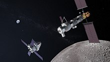 Lunar Orbital Platform-Gateway with approaching Orion spacecraft.jpg