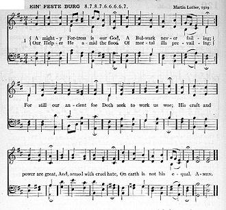 "Symphony No. 5 (Mendelssohn) - Luthers' original hymn, ""Ein feste Burg ist unser Gott"""