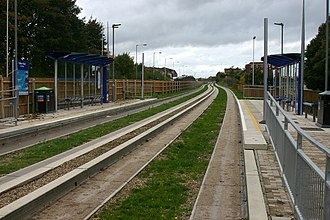 Luton to Dunstable Busway - The concrete rollway track