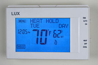Thermostat - Next Generation Lux Products TX9600TS Universal 7-Day Programmable Touch Screen Thermostat.