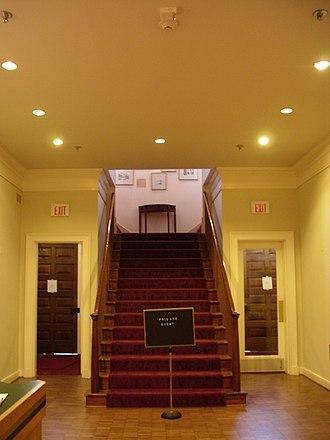 Lyceum (Alexandria, Virginia) - Image: Lyceum staircase