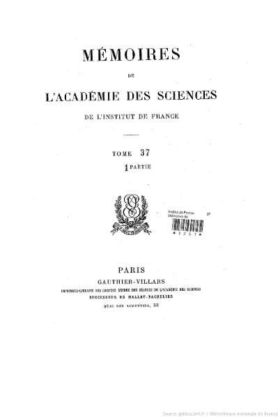 File:Mémoires de l'Académie des sciences, Tome 37, partie 1.djvu